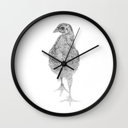 chick, drawing Wall Clock