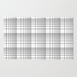Simple Grid Pattern-Black on White-Mix & Match with Simplicity of life Rug