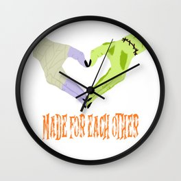 Frankenstein Love Wall Clock