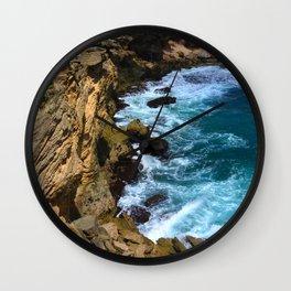 Relentless Tropical Paradise: Hawaiian Beach Cove Wall Clock