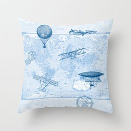 A Brief History of Flight Throw Pillow