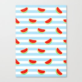 Watermelon, watermelon poster, watermelon shirt, watermelon duvet cover, summer Canvas Print