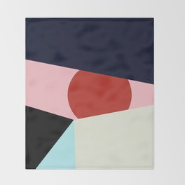 Circle Series - Red Circle No. 1 Throw Blanket