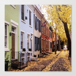Fitler Square Streets Canvas Print