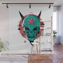 Skull in cartoon style. Wall Mural