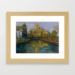 City of Wells in Somerset - Cathedral Framed Art Print