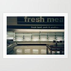 empty meat 35mm Art Print