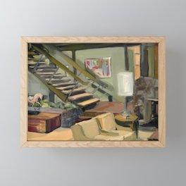 A Very Brady 70's Living Room Framed Mini Art Print