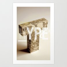 Typographic Hype Art Print
