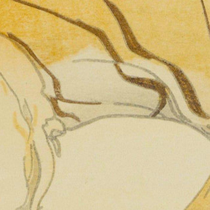 Sketch of Tiger from the Zoological Garden Hiroshi Yoshida Vintage Japanese Woodblock Print Leggings