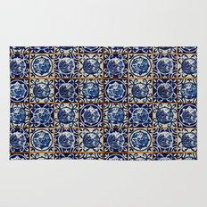 Blue Willow Tiles Rug