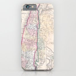 Old 1864 Historic State of Palestine Map iPhone Case