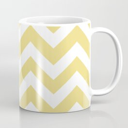 Flax - beije color - Zigzag Chevron Pattern Coffee Mug