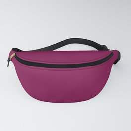Rich Plum Pie Pudding Trendy Fashion Solid Color Fanny Pack