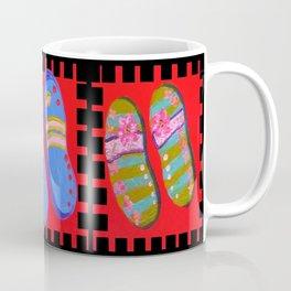 Flip Flops Times Three Coffee Mug