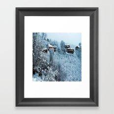 snow  park Framed Art Print