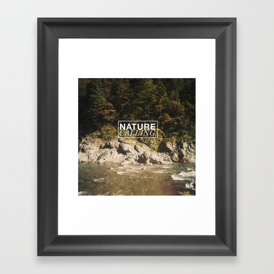 Nature Calling Framed Art Print