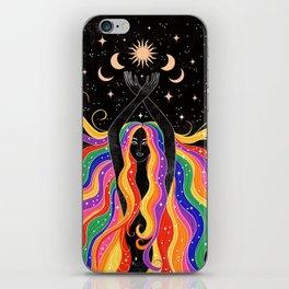 Rainbow Goddess iPhone Skin