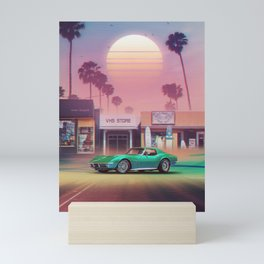 Synthwave Sunset Drive Mini Art Print