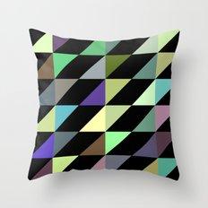 Tilted rectangles pattern Throw Pillow