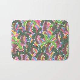 Rainbow Palm Trees Tropical Party Bath Mat