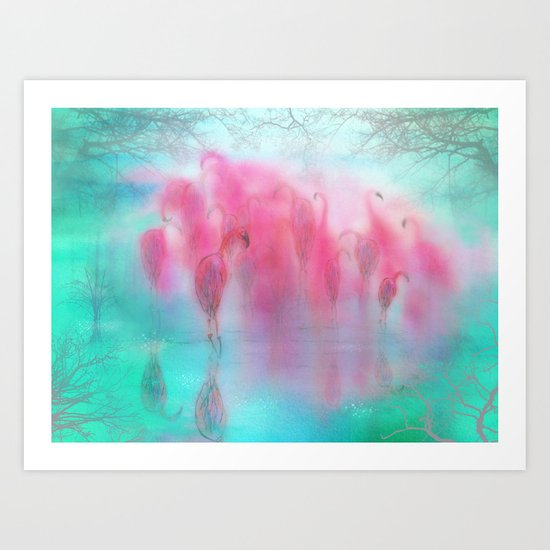 Flamingo Dream Art Print
