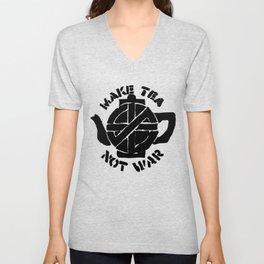 Make Tea Not War Unisex V-Neck