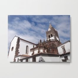Cathedral of Our Lady of the Assumption in Funchal Madeira Metal Print