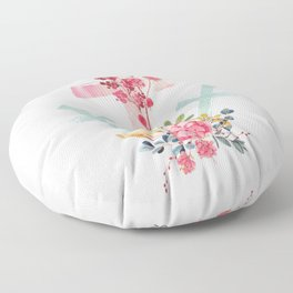 calvary floral Floor Pillow