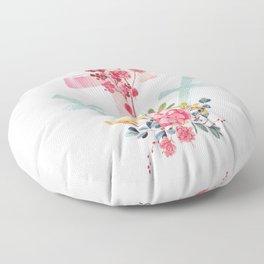 calvary floral Floor Pillow