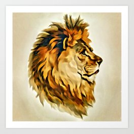 MAJESTIC LION PORTRAIT Art Print