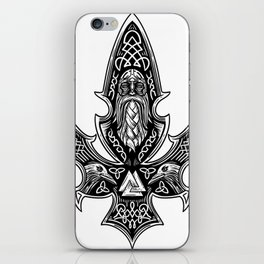 Gungnir Odin'S Spear Viking Runes Ravens Shirt iPhone Skin