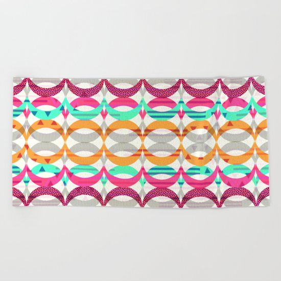 Retro pattern II Beach Towel