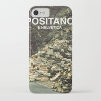 helvetica iPhone & iPod Cases featuring Positano & Helvetica by woo made it