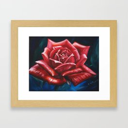 Rose Painting by Fwa Framed Art Print