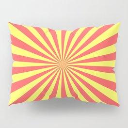 Starburst (Red & Yellow Pattern) Pillow Sham
