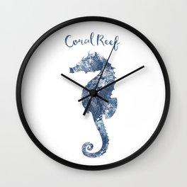 Seahorse Coral Reef habitat Wall Clock