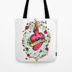 Botanical Heart Illustration Tote Bag