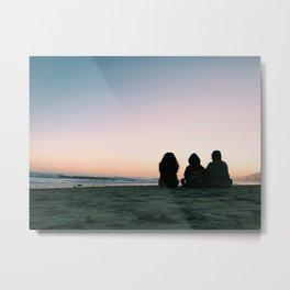 Sunset Watching Metal Print