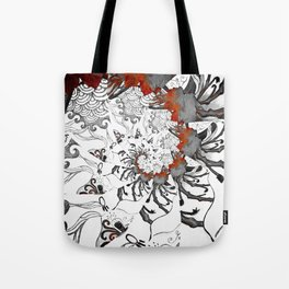 Earth Form Spiral Tote Bag