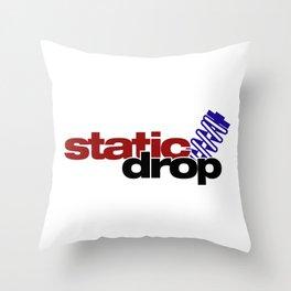 Static drop v4 HQvector Throw Pillow