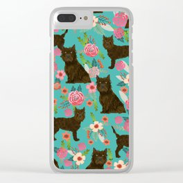 cairn Terrier florals dog pattern dog breed pet friendly gifts for dog person Clear iPhone Case
