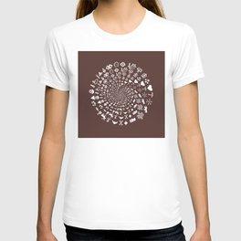 For the Love of Chocolate: Love Symbols Mandala T-shirt