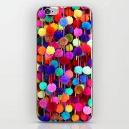 Rainbow Pom-poms (Vertical) iPhone Skin