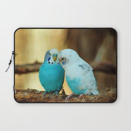 Lovely Pair Of Budgies Laptop Sleeve