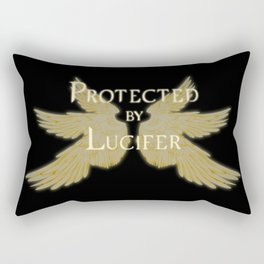 Protected by Lucifer Light Rectangular Pillow