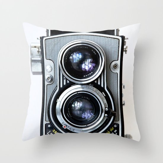 Flexaret Vinatge Camera Throw Pillow