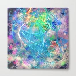 Neon Abstract Design 2 Metal Print
