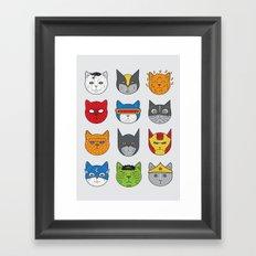 Super Cats Framed Art Print