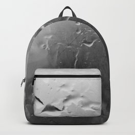 Dirty Glass and Water Drops - Black&White Backpack
